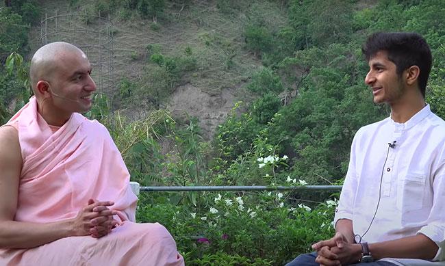 Swamiji and Vidit